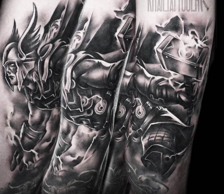 Thors Hammer Back Piece Wikinger Tattoo Wikinger