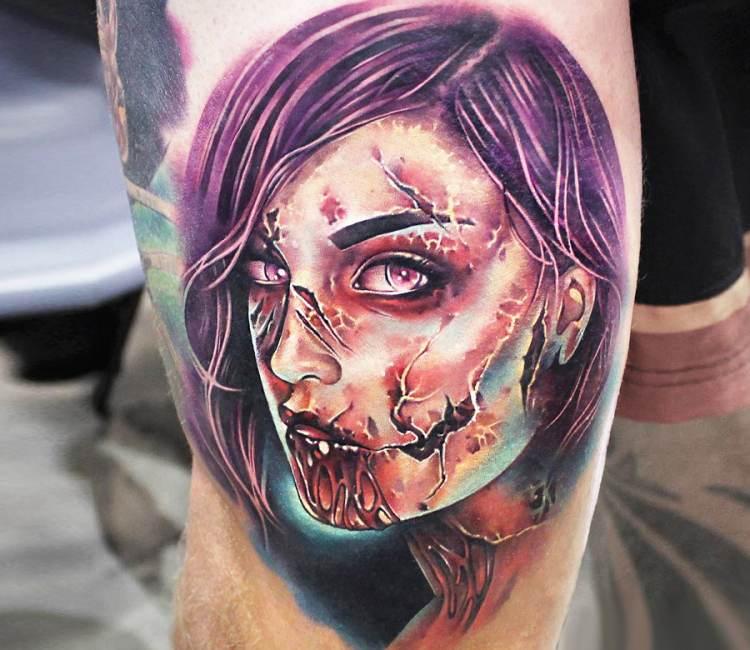Zombie Chick Tattoo By Khail Tattooer