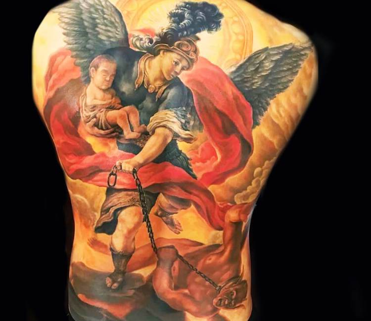 Archangel Michael tattoo by Khuong Duy | Post 19027