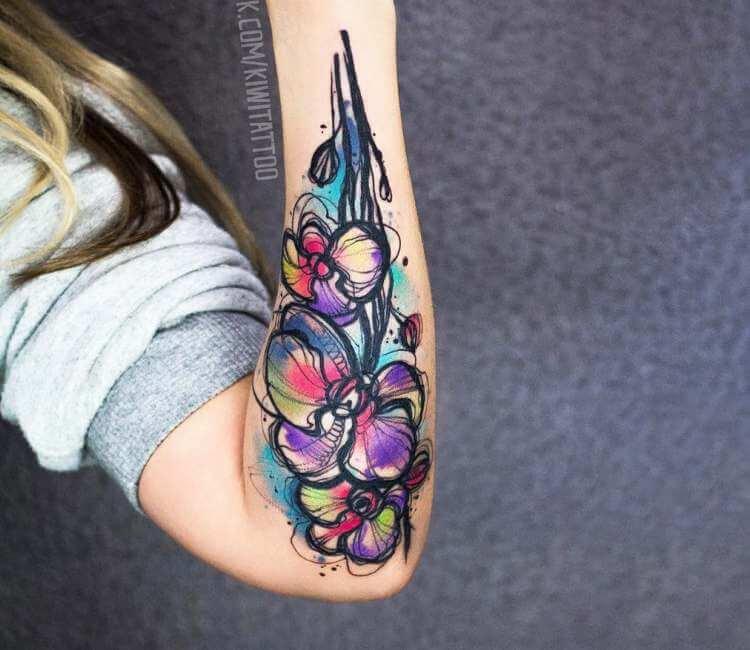 e7c359c67 Orchid tattoo by Kiwi Tattoo | Post 22823