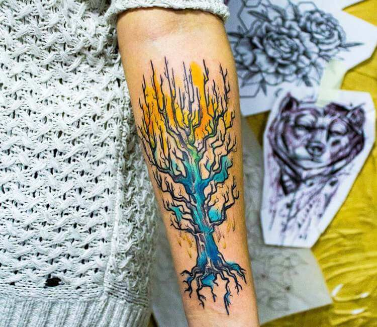 Tree Tattoo By Kiwi Tattoo Photo 22848 Choose from 1700+ cartoon tree graphic resources and download in the form of png, eps, ai or psd. world tattoo gallery