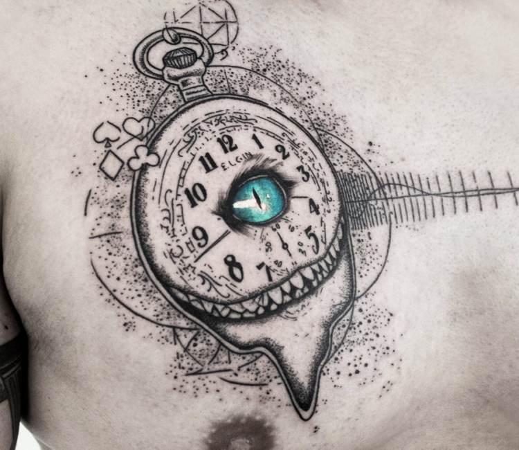 Eye And Multiple Clock Tattoo: Clock With Eye Tattoo By Koit Tattoo