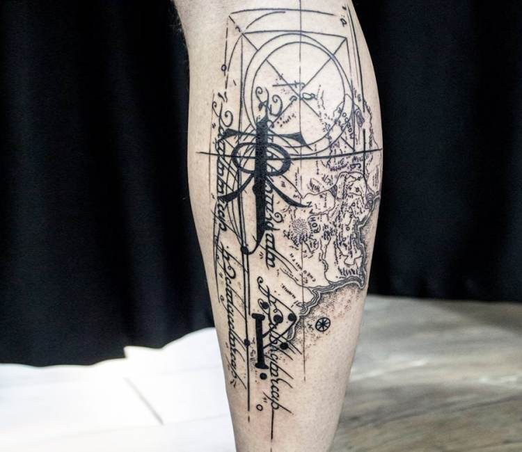Map of middle earth tattoo by koit tattoo post 18586 gumiabroncs Choice Image