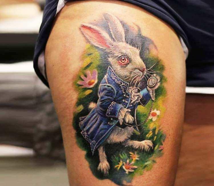 Artist Lena Art White Rabbit Tattoo
