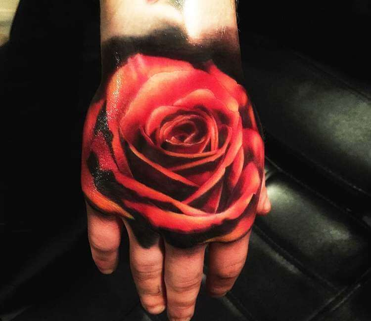 Red Rose Tattoo By Luke Naylor Post 22979