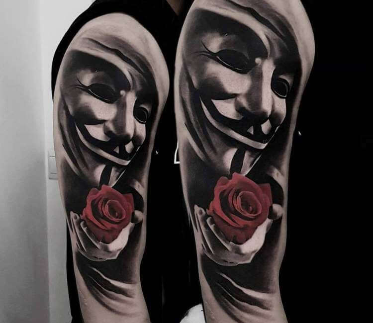 V For Vendetta Tattoo By Marcin Sokolowski Post 23866