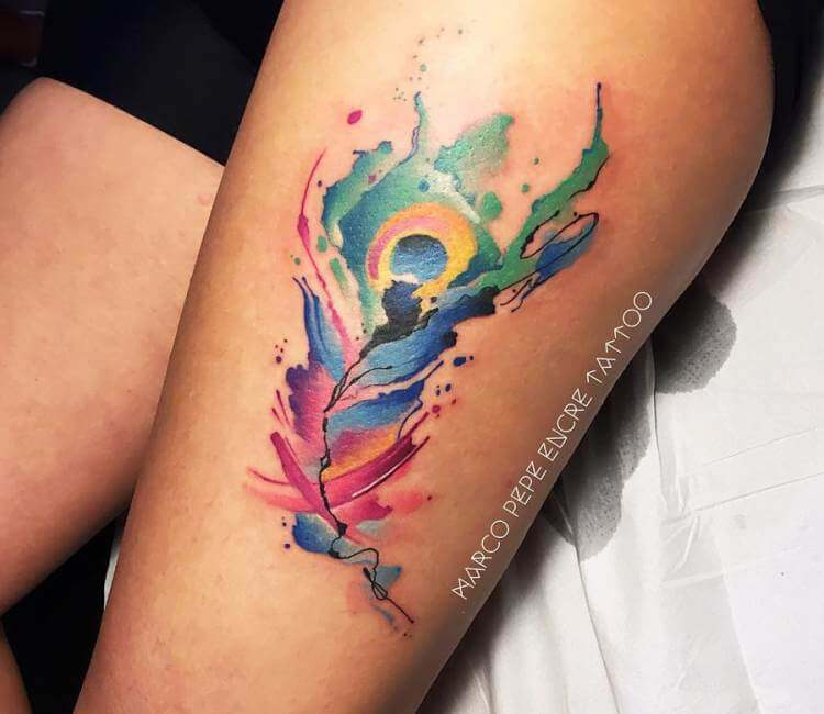794cf392a Peacock Feather tattoo by Marco Pepe | Post 20156