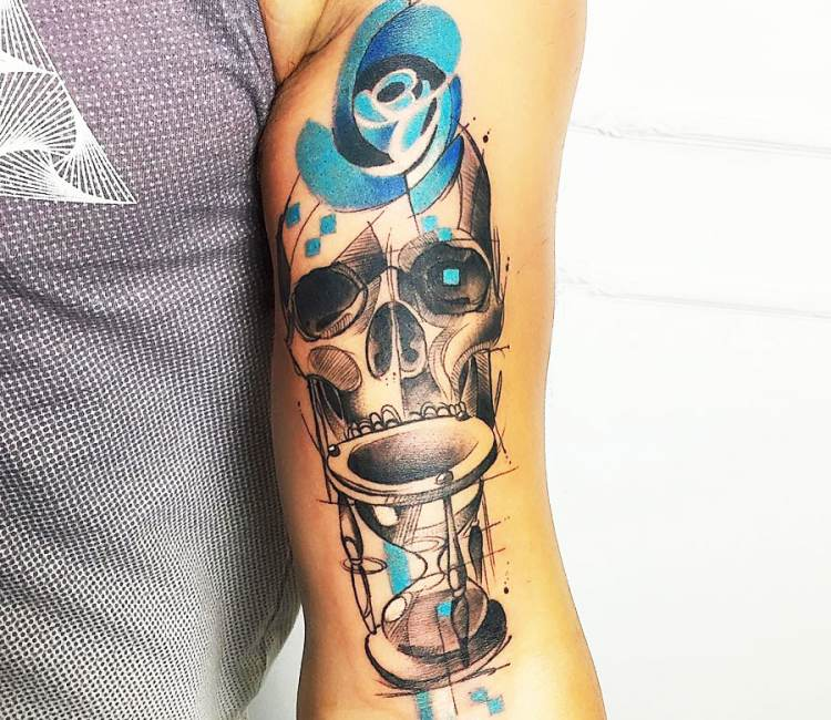 Skull with hourglass tattoo by marco pepe post 20159 for Skull hourglass tattoo