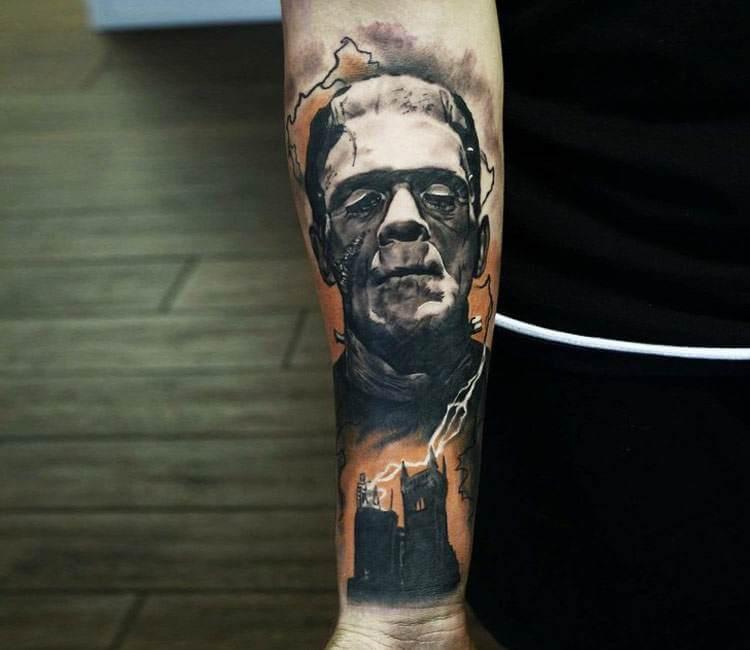 Frankenstein tattoo by Mark Wosgerau | Post 18256  Frankenstein ta...