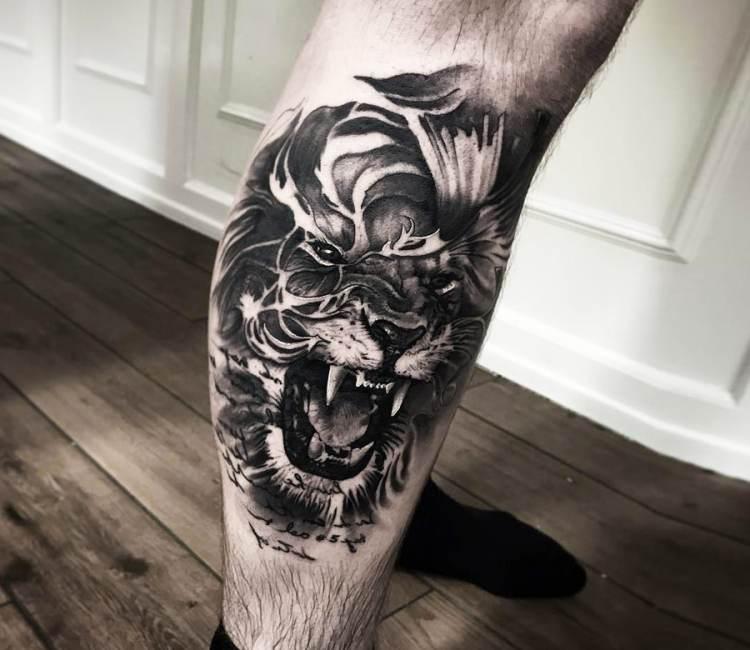 Lion tattoo by Mark Wosgerau   Post 18273