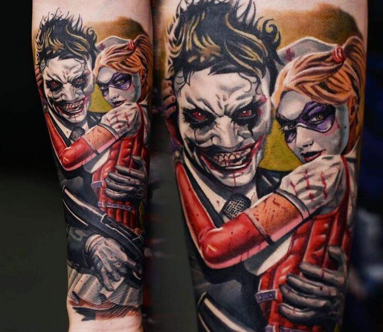 Joker And Harley Quinn Tattoo By Marko Tattoo Photo 28904
