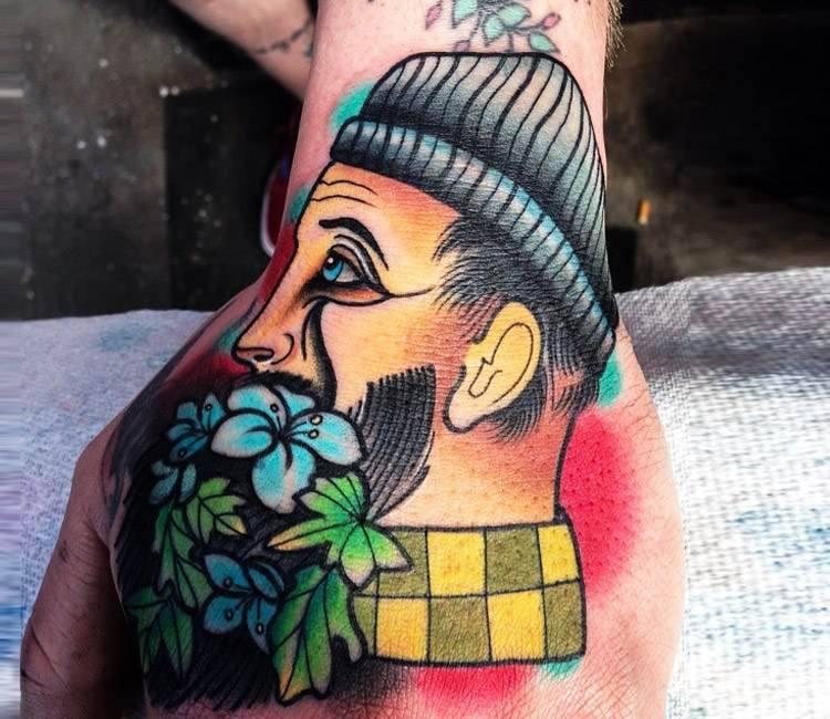 8b1cf27cf Bearded Man tattoo by Matt Webb | Post 16486
