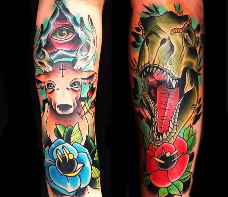 Color Tattoo By Matt From Black Sails Tattoo: Oldschooll Tattoo By Matt Webb