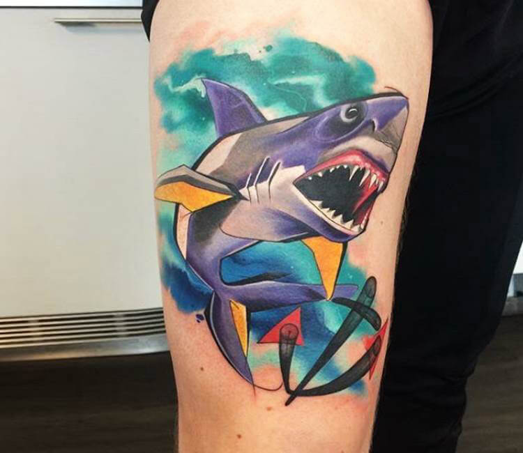 Shark Tattoo By Mefisto Tattoo