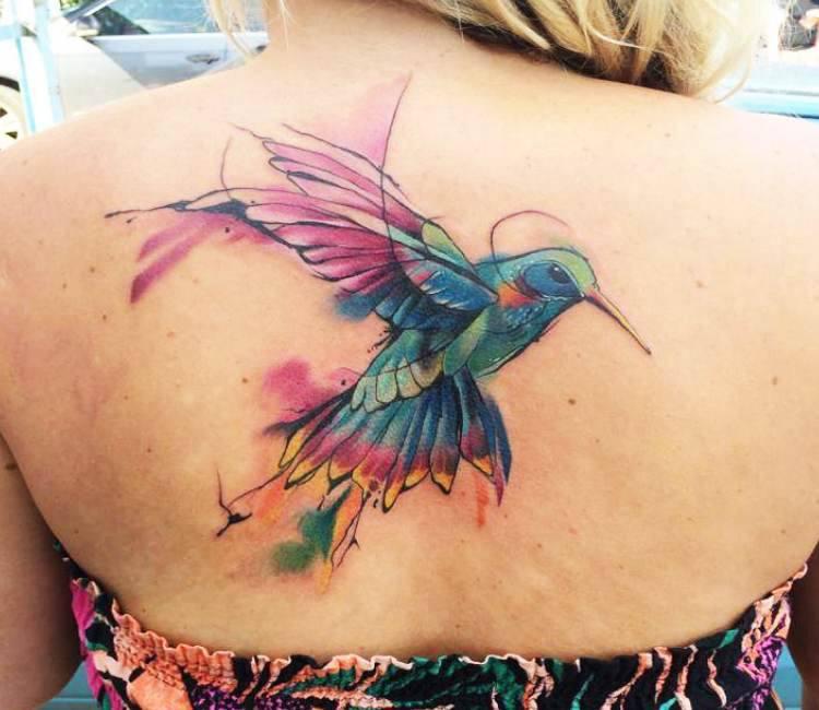 Watercolor Bird tattoo by Mefisto Tattoo   Post 15442