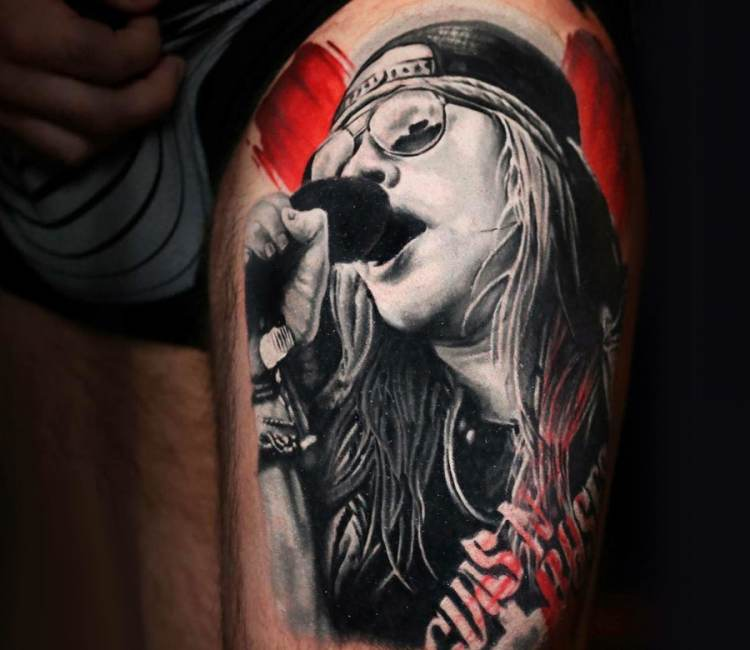 Axl Rose Tattoo By Michael Cloutier Post 20035