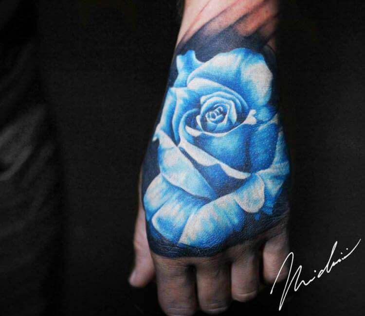e0ffc1426 Blue Rose tattoo by Michael Cloutier | Post 20010