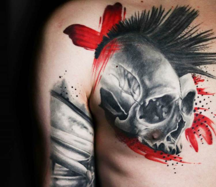 Punk tattoo 45 Badass