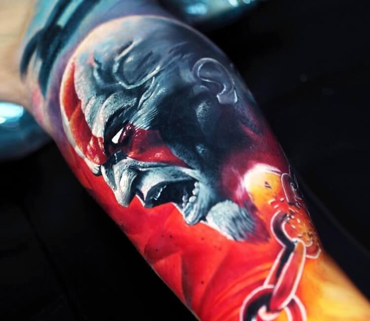 Kratos Tattoo By Michael Taguet Post 29301