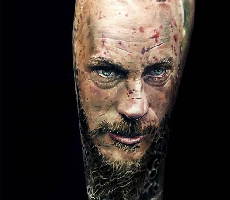 ragnar lodbrok tattoo by michael taguet post 21090
