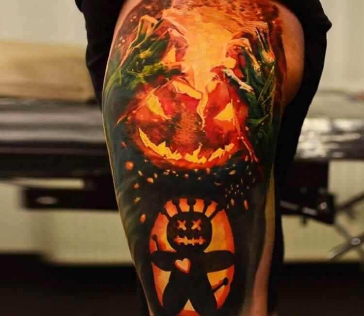 Evil Pumpkin Tattoo By Michal Ledwig Post 27200