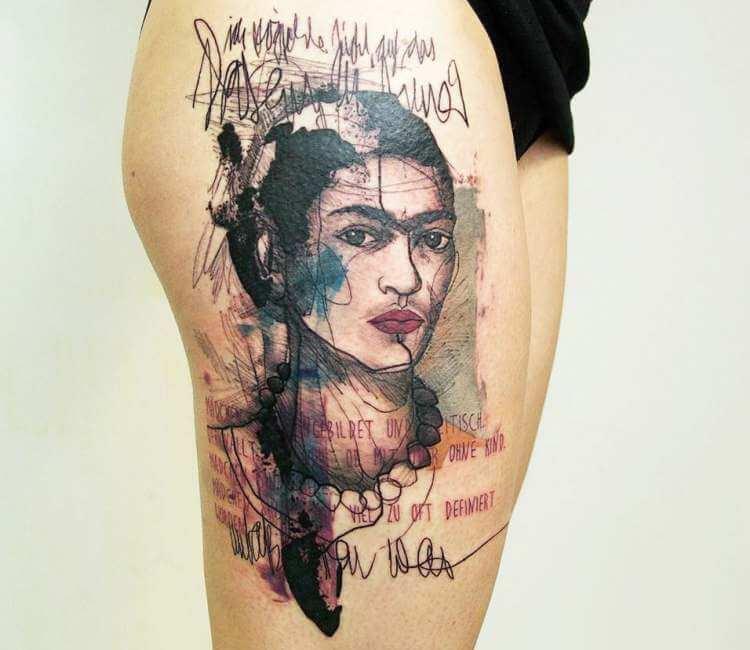 40a1e7189 Frida Kahlo tattoo by Minervas Linda   Post 22193