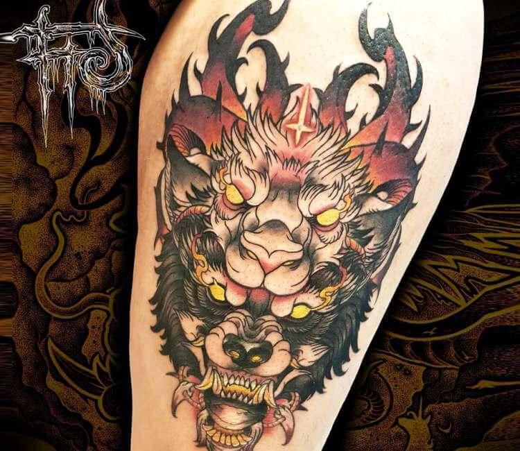 0e811e82e Mystic Wolf tattoo by Minh Luurangon | Post 25817