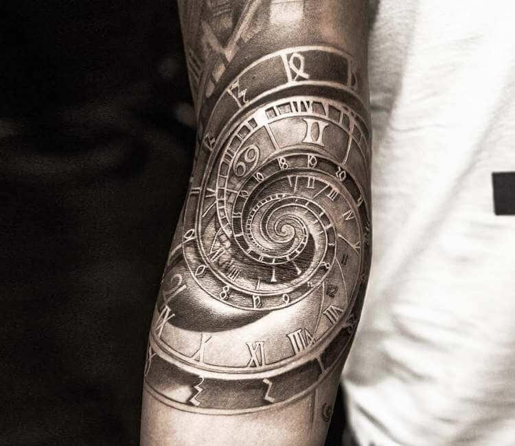 Astronomical Clock Tattoo: Astronomical Clock Tattoo By Niki Norberg