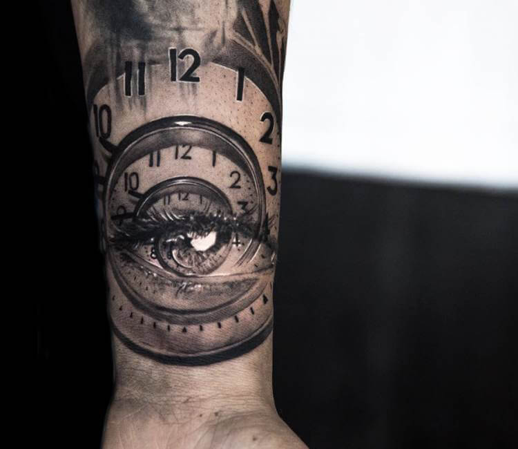 Eye in clock tattoo by niki norberg post 14461 for Eye with clock tattoo