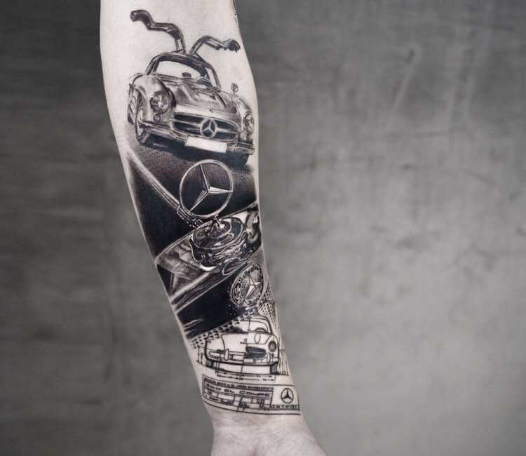 Mercedes Benz Tattoo By Niki Norberg Post 24204