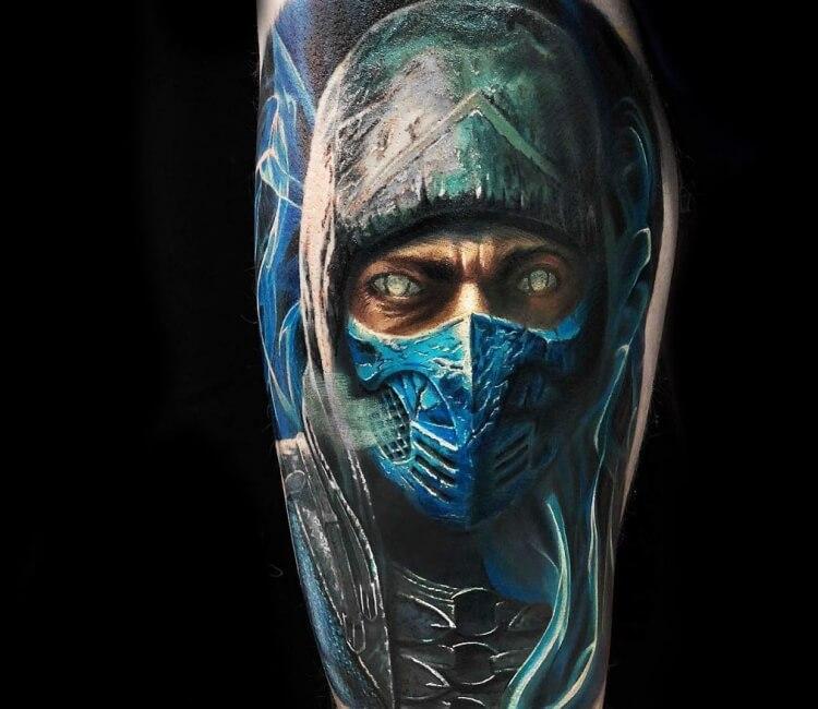 Tattoo Designs Mk: Subzero Tattoo By Oleg Black