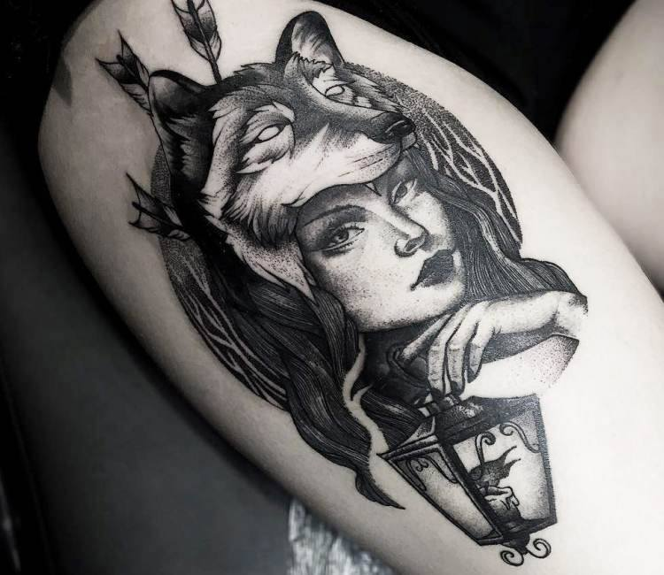 Wolf Woman Tattoo By Otheser Tattoo