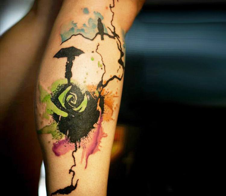 Abstract rose tattoo by paul talbot post 13555 for Abstract rose tattoo