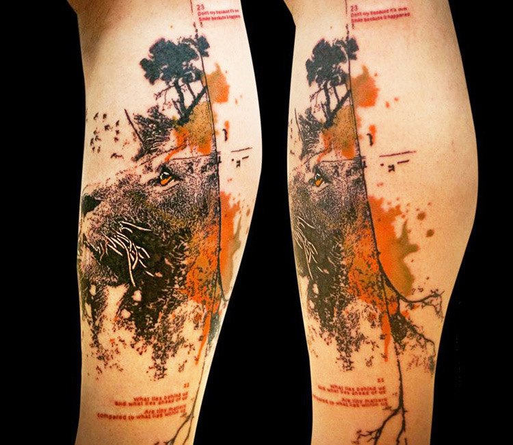 76c738194 Abstract Lion tattoo by Paul Talbot | Post 13556