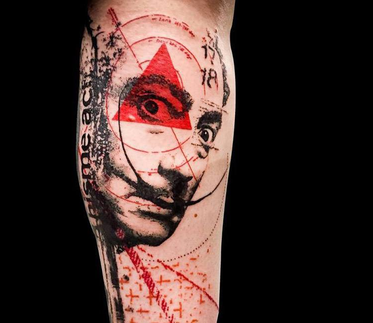 Salvador Dali Tattoo Dali Tattoo: Salvador Dali Tattoo By Paul Talbot
