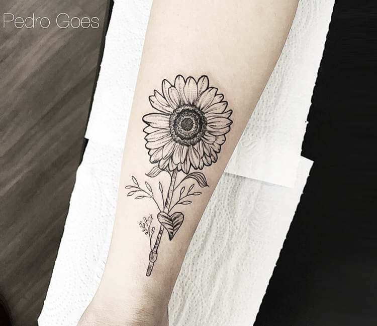 Sunflower Tattoo By Pedro Goes Post 24175