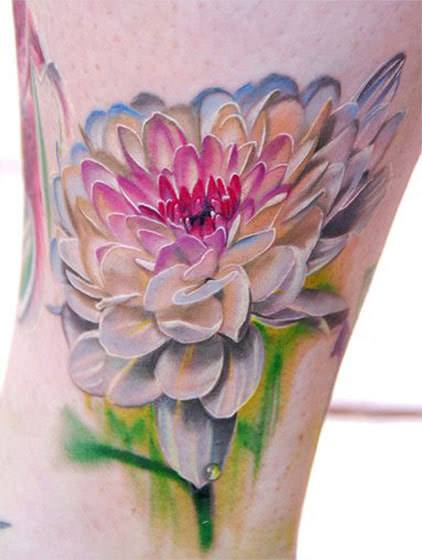 644177180 full colors flowers tattoo by philip garcia