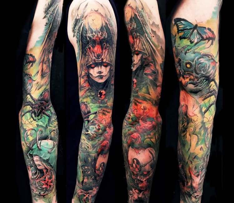 4ed1312b2 Sleeve tattoo by Roman Kor | Post 25002