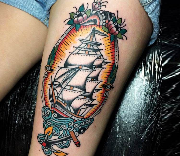 traditional nautical tattoo by sam ricketts post 15894. Black Bedroom Furniture Sets. Home Design Ideas