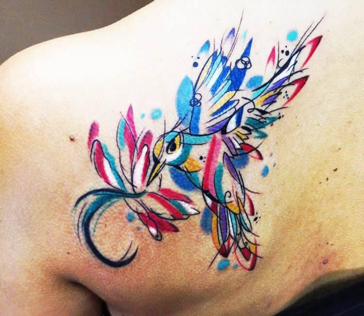 Watercolor Bird tattoo by Sebastian Barone   Post 16593