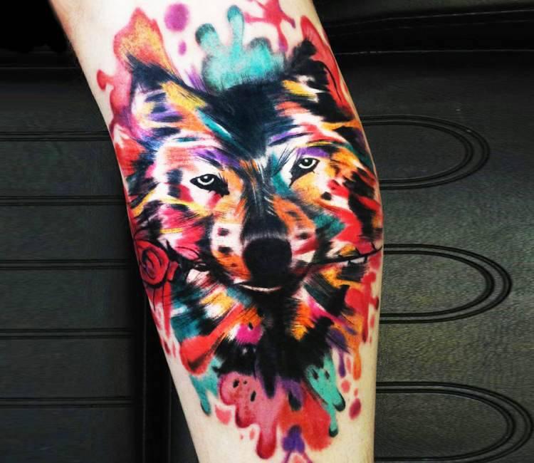 Wild wolf tattoo by sebastian barone post 16610 for Sebastian tattoo artist dc