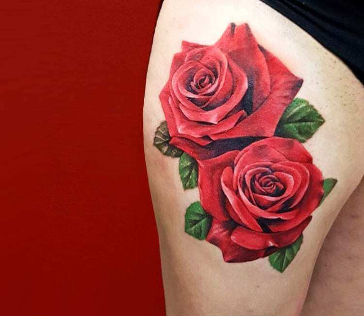 Red Roses Tattoo By Slipy Tattoo Post 25073