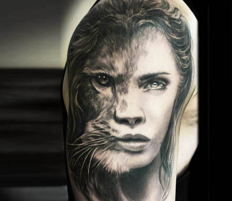 Lion Woman Tattoo By Steffi Eff Post 14751