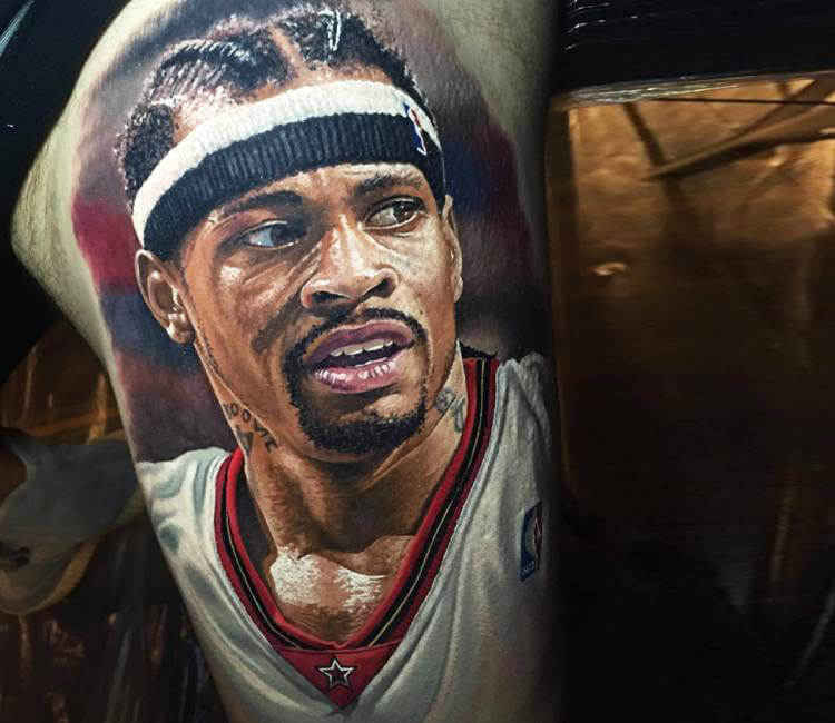 allen iverson tattoo by steve butcher post 15680. Black Bedroom Furniture Sets. Home Design Ideas