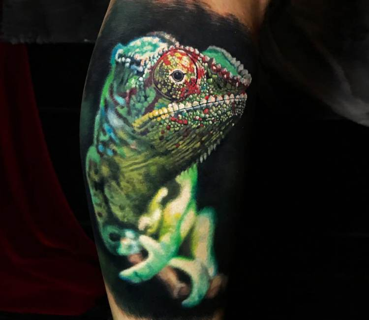 Jackson Chameleon Tattoos: Chameleon Tattoo By Steve Butcher