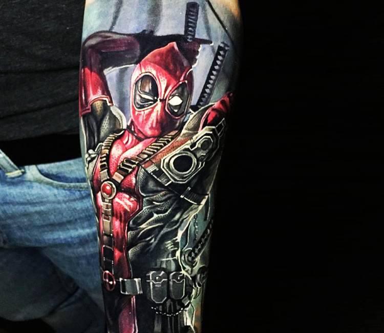 Venom Spiderman Drawing Deadpool tattoo by Ste...
