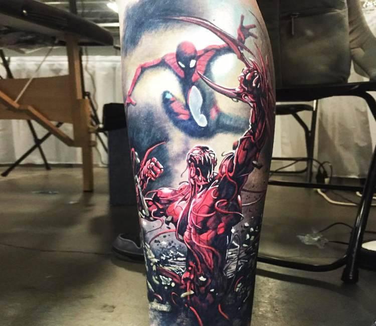 Venom Carnage Tattoo: Spiderman Vs Carnage Tattoo By Steve Butcher