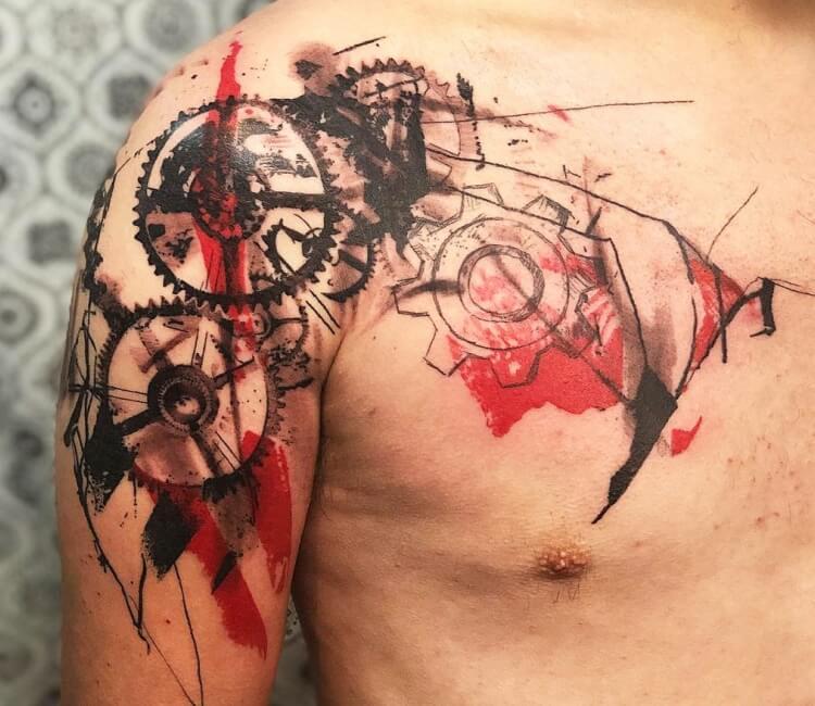 Gears Tattoo By Thomas Acid Post 27808