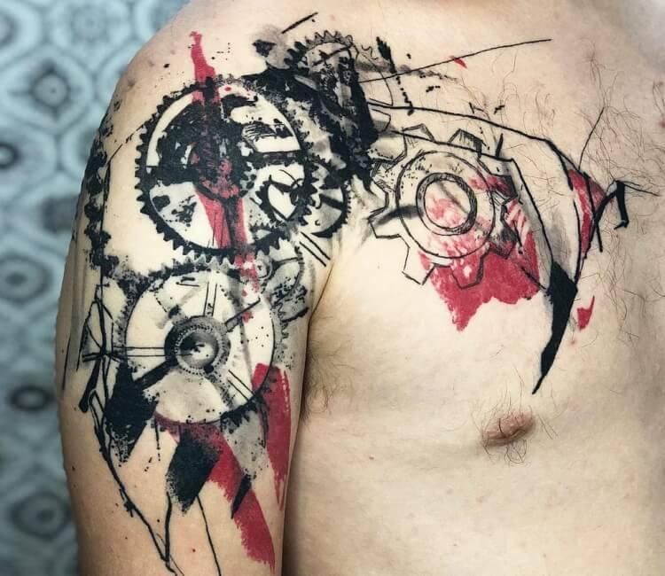 Gears Tattoo By Thomas Acid Post 28683