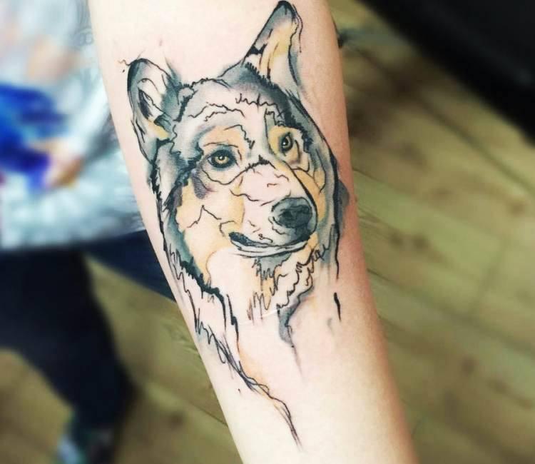c3f6d6413cbaa Wolfdog tattoo by Trudy Lines Tattoo | Post 15475